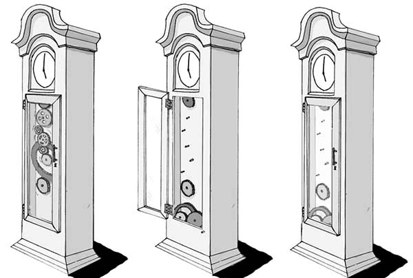 Grandfather Clock Complicated Setting Coloring Pages Color Luna Grandfather Clock Coloring Pages Clock