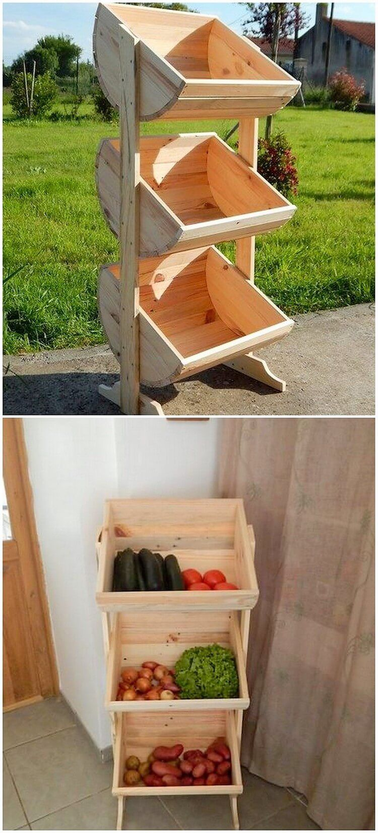 Incroyable This Is Another Creatively Designed Wood Pallet Project That Is Featuring  With The Vegetable Rack Piece Structure For You. This Project Would Stand  Out To ...