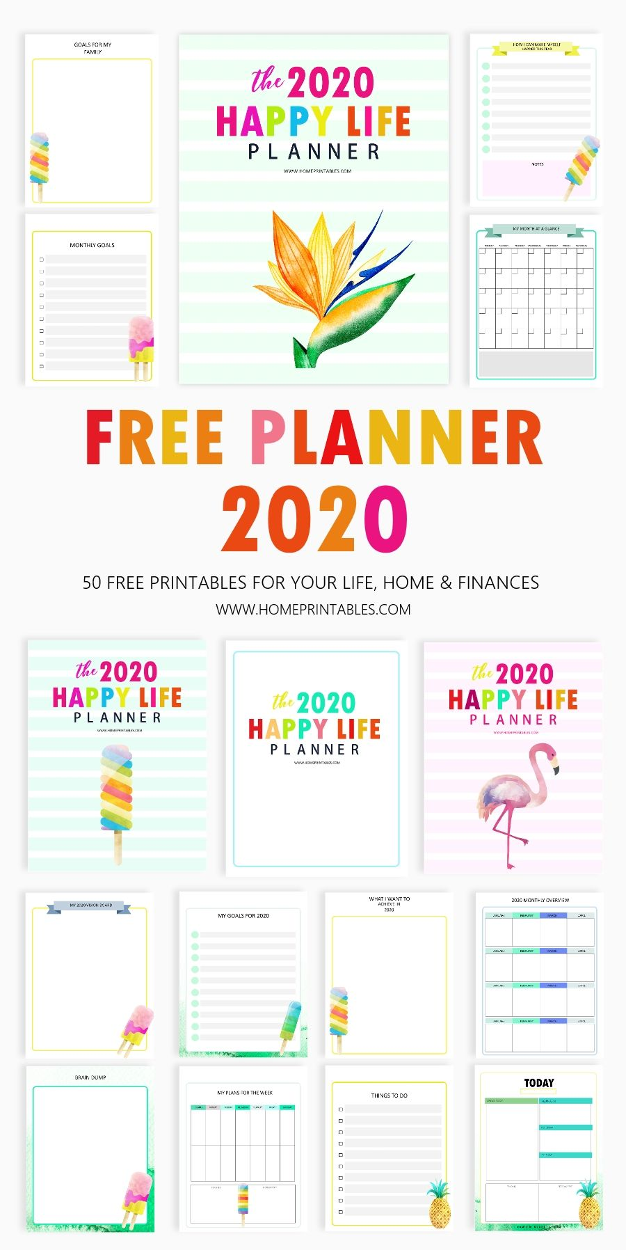 Happy Life Planner: The BEST Free Printable 2020 Planner in PDF