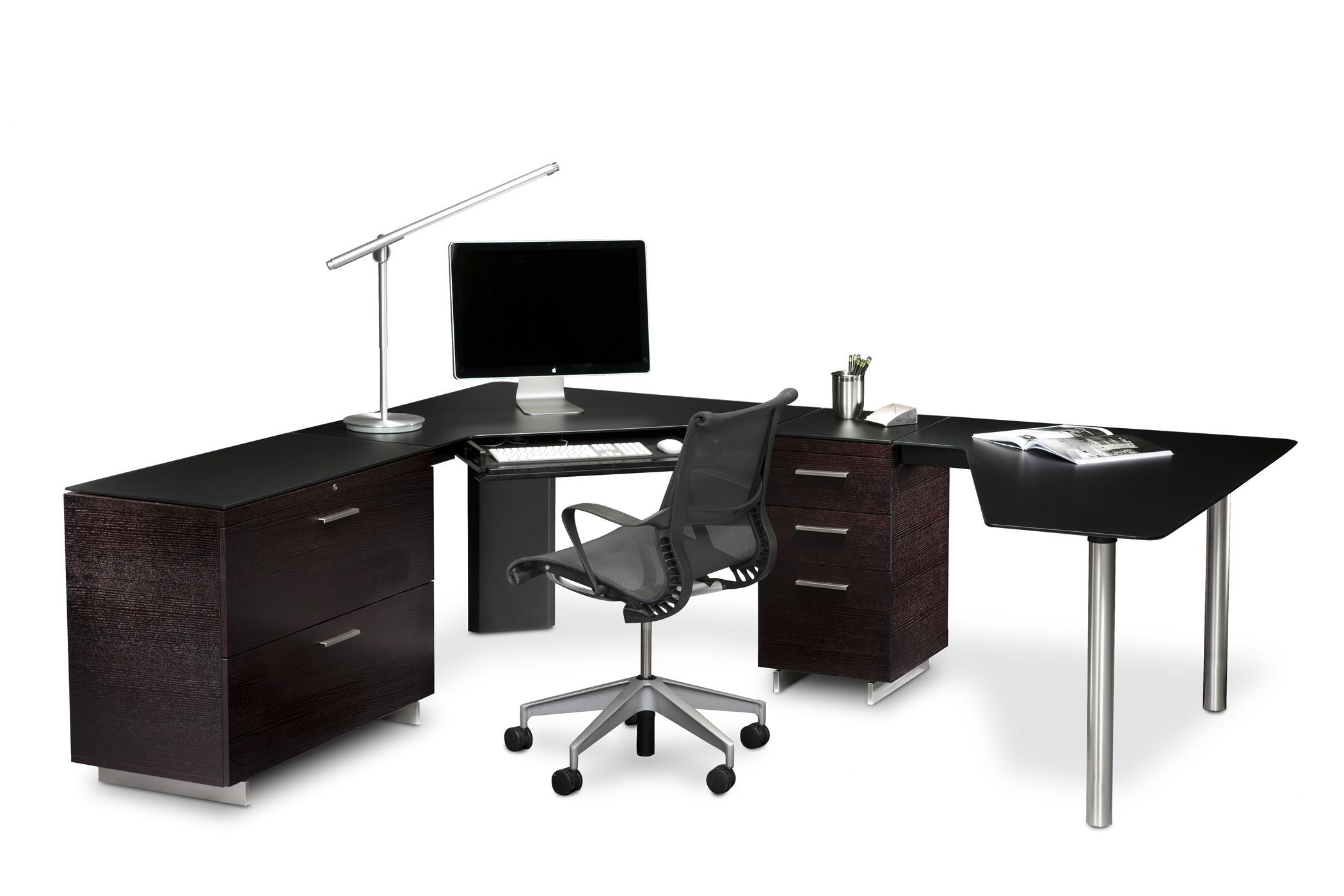 contemporary desks for home office. The Peninsula Desk 6018 Is Part Of BDI\u0027s Sequel Office Furniture Collection. Integrates With Other Pieces Contemporary Desks For Home