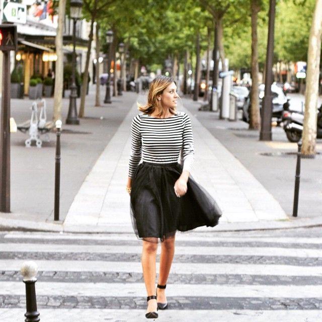 Amore Tulle Midi Skirt in Black - Retro, Indie and Unique Fashion
