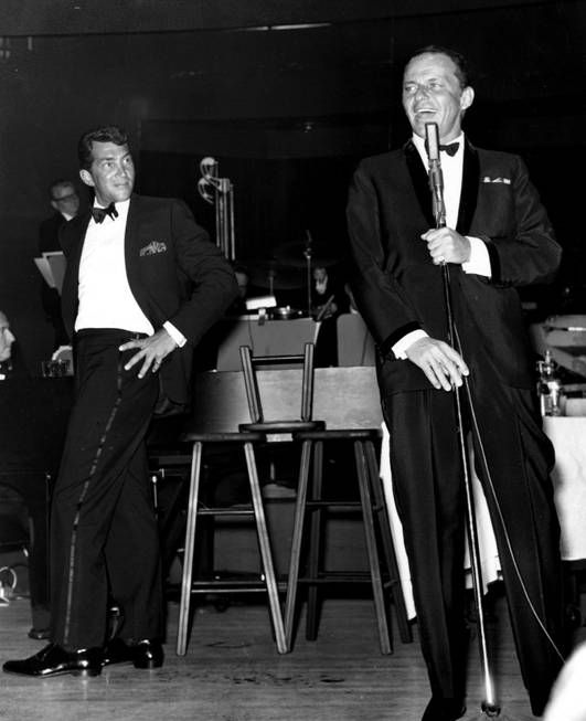 The Rat Pack - Dean Martin looks on as Frank Sinatra sings a number ... - Las Vegas Sun News