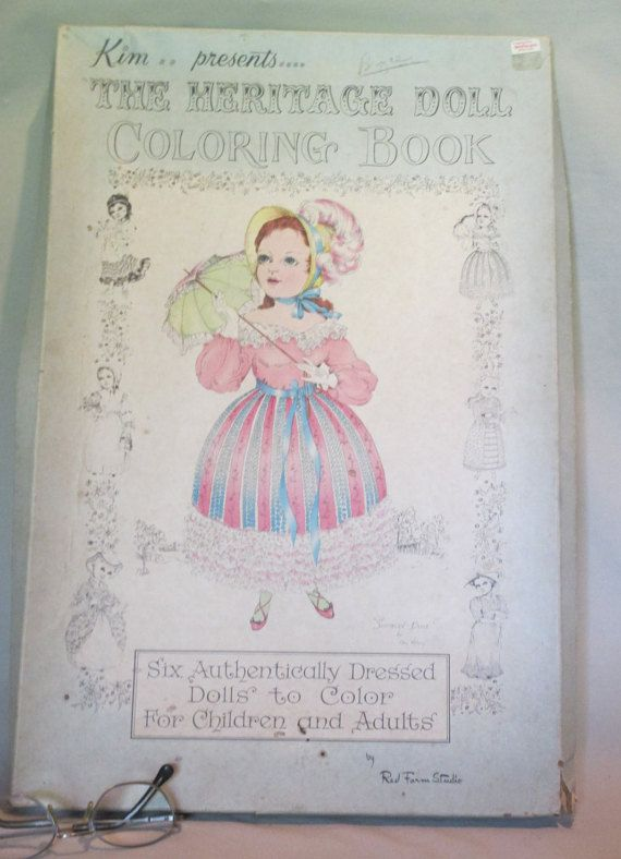 Kim\'s Heritage Dolls Coloring Book, Vintage Giant Coloring Book by ...