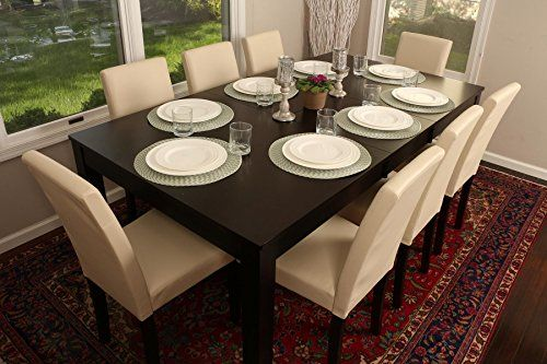 Formal 9 Piece 8 Person Butterfly Extension Table 42 X 78 And