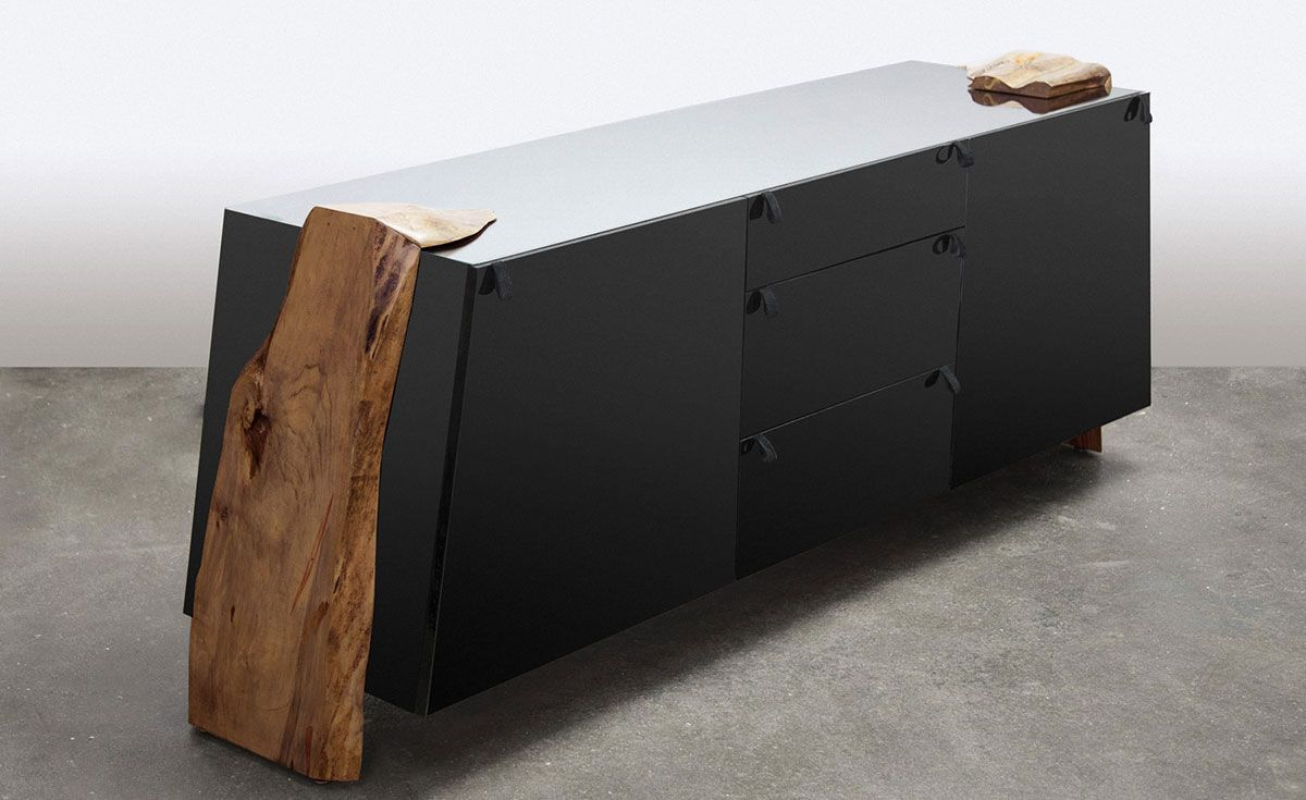 Luxor Live Edge Contemporary Credenza Brooklyn Nyc Sentient Sentient Furniture Furniture Cool Furniture
