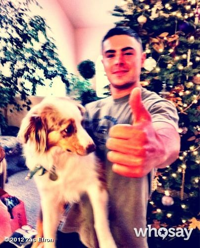 Zac, last xmas with Puppy, his dog