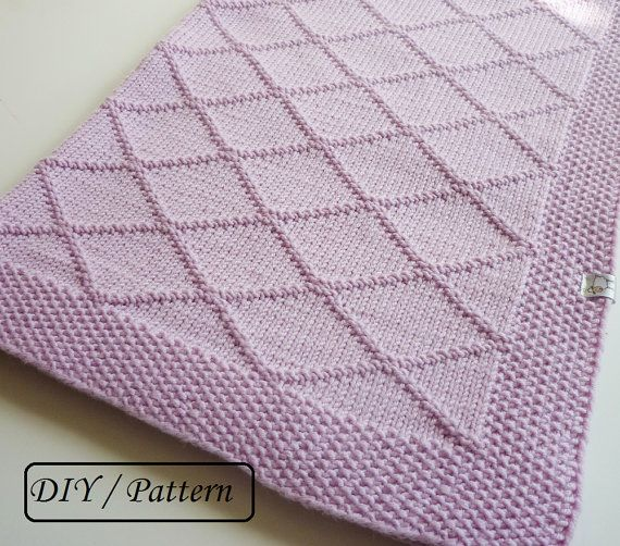 Baby blanket pattern / baby blanket knitting pattern / knit ...
