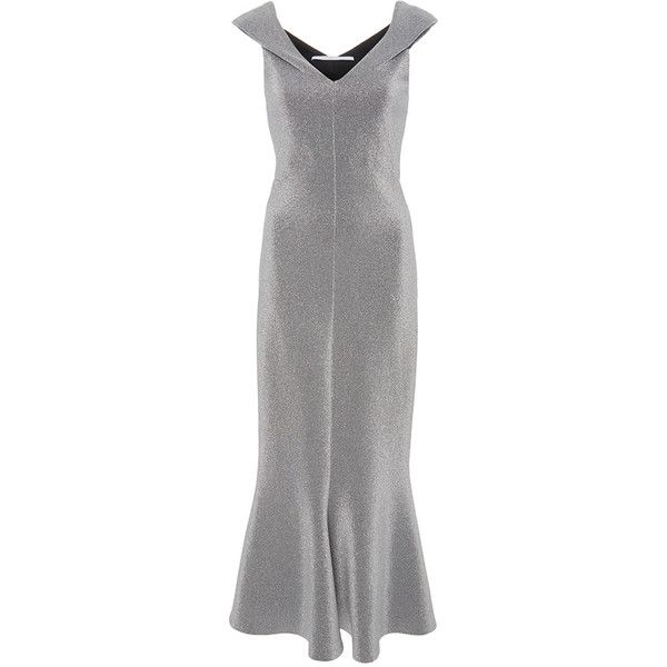 Rosetta Getty Split Neck Flared Dress ( 990) ❤ liked on Polyvore featuring  dresses 45570172e
