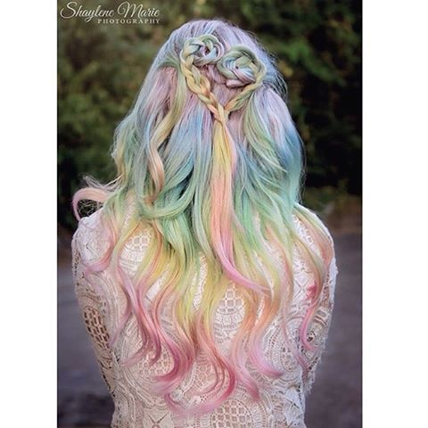 Pastel rainbow  @amandahair3ypotterhead