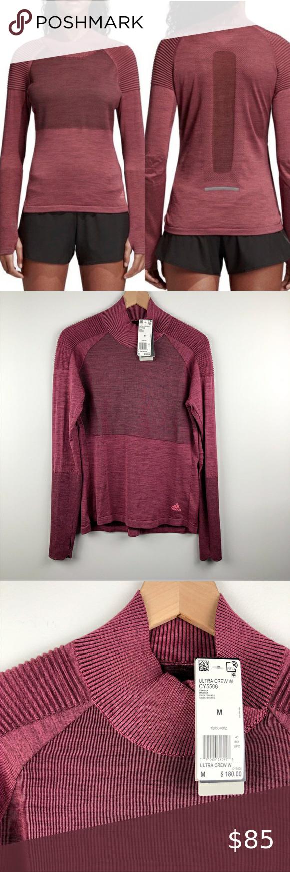 Nwt Adidas Ultra Climaheat Crew Running Top M Running Sweatshirt Running Tops Clothes Design [ 1740 x 580 Pixel ]