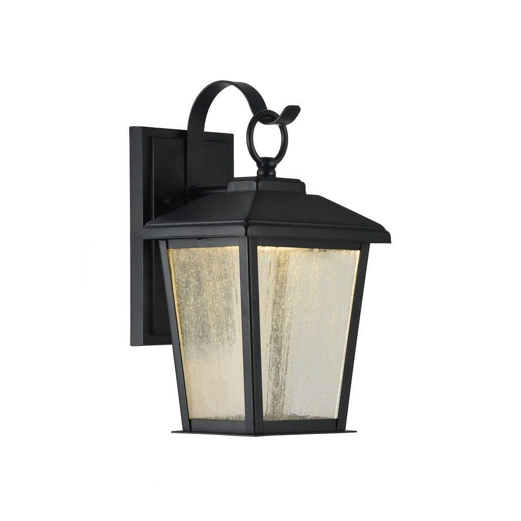 Chloe kirton collection light textured black outdoor led wall