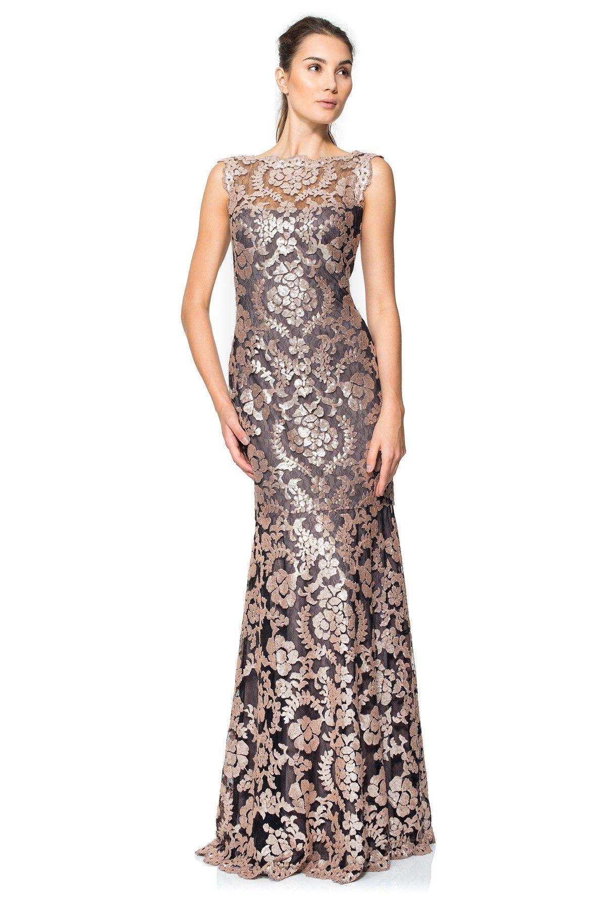Paillette Embroidered Lace Gown | Tadashi Shoji | Tadashi ...