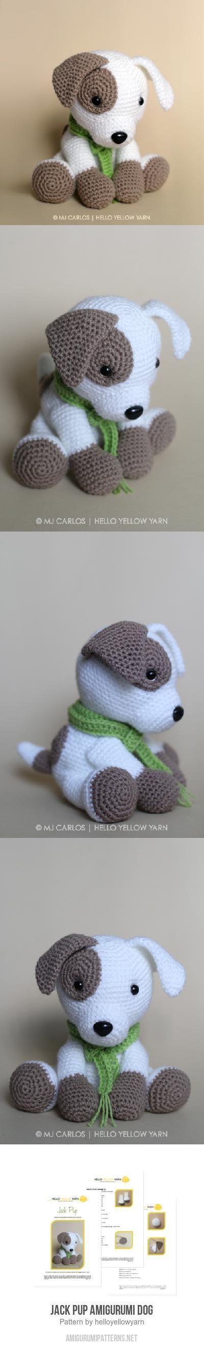 Jack Pup amigurumi pattern by helloyellowyarn | Tejido, Ganchillo y ...