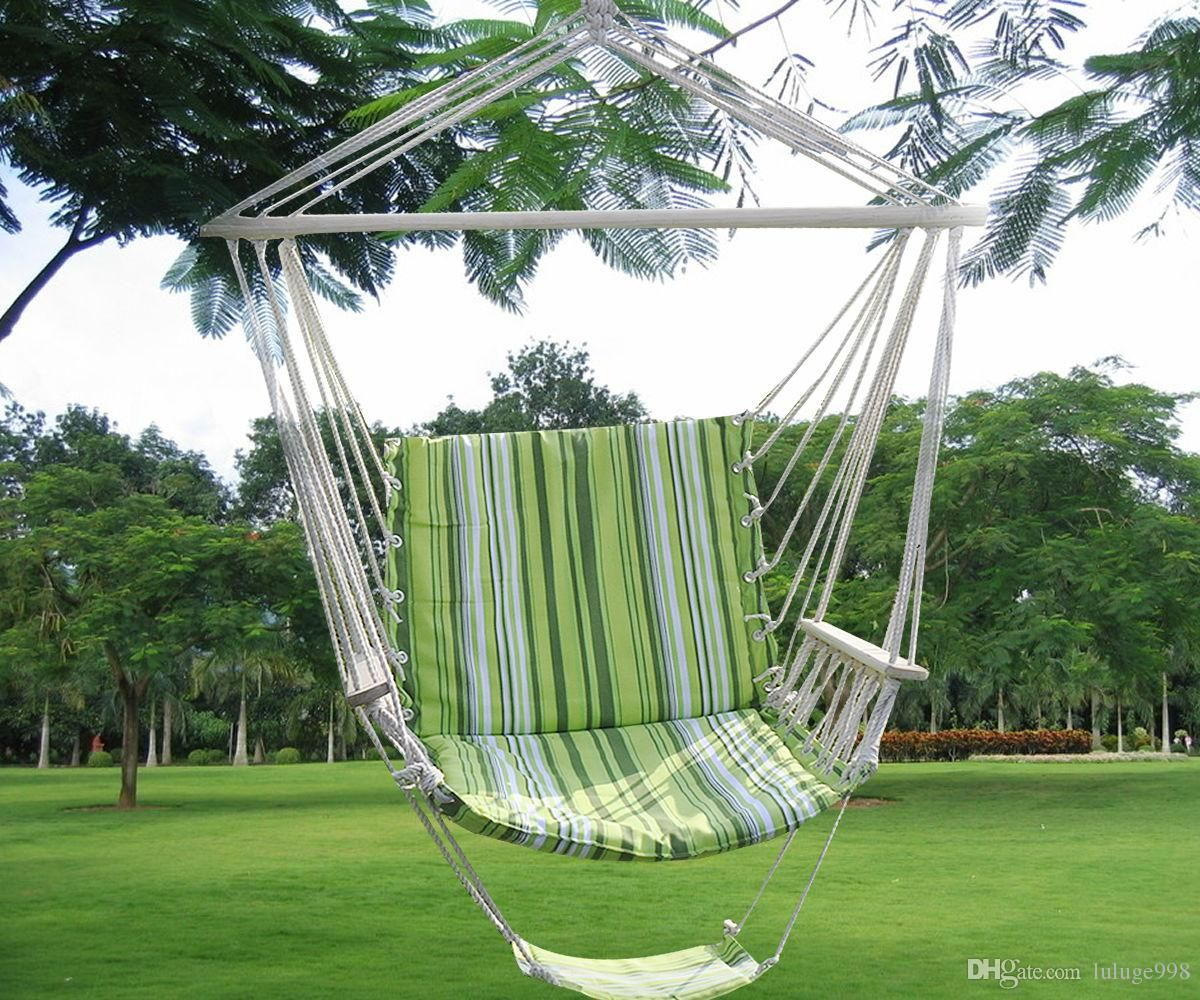 2019 Green Leisure Swing Hammock Hanging Outdoor Chair
