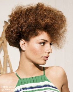 Updo for curly African hair