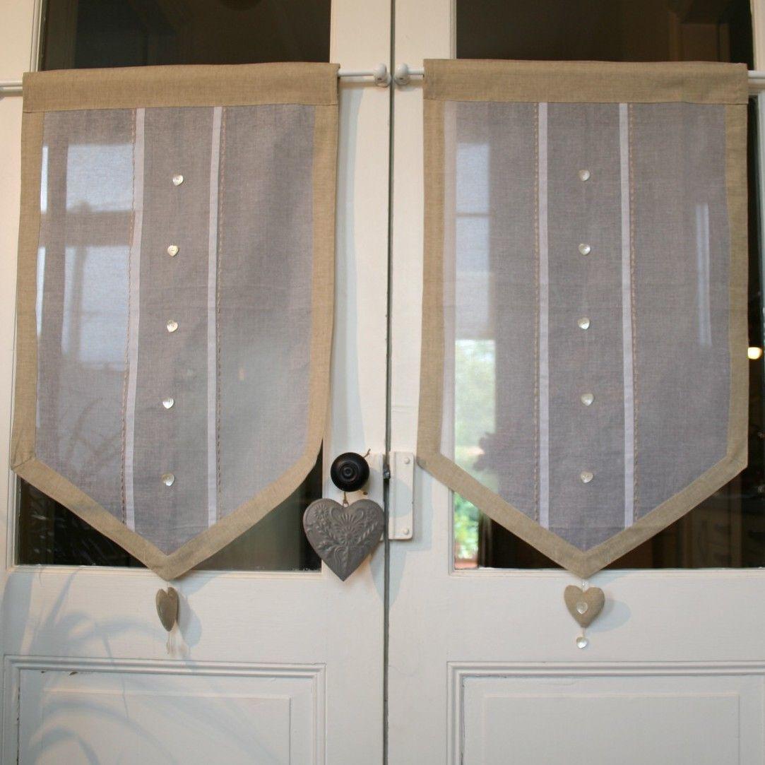 Home decoration autrefois rideaux - Le Rideau Coeur Organdi Et Lin Brise Bise D Co De