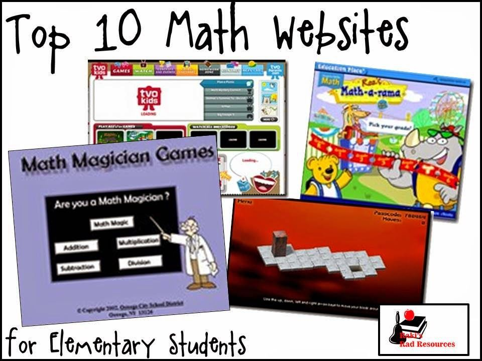 Top 10 Math Websites for Elementary Students Math