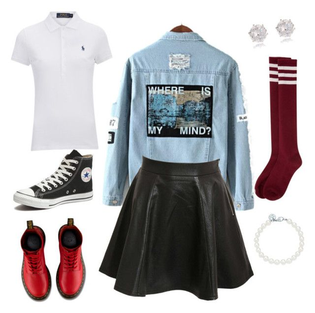 """""""""""Pretty"""" Edge"""" by erjoh on Polyvore featuring Converse, Pilot, River Island, Dr. Martens, Tiffany & Co., Polo Ralph Lauren, women's clothing, women's fashion, women and female"""
