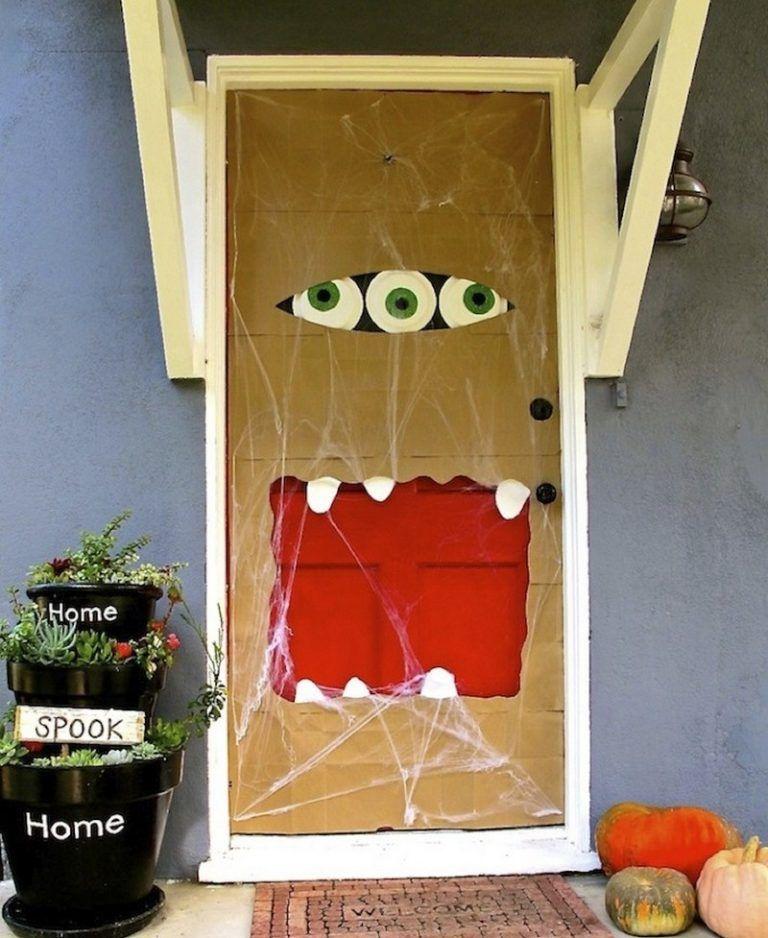 Halloween Deko Fur Die Haustur Basteln 50 Turdeko Ideen Dekorationen Ideen Halloween Deko Halloween Selber Machen Halloweendeko