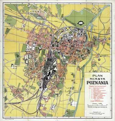 1921 1929 Plan Poznania City Map Map Poznan