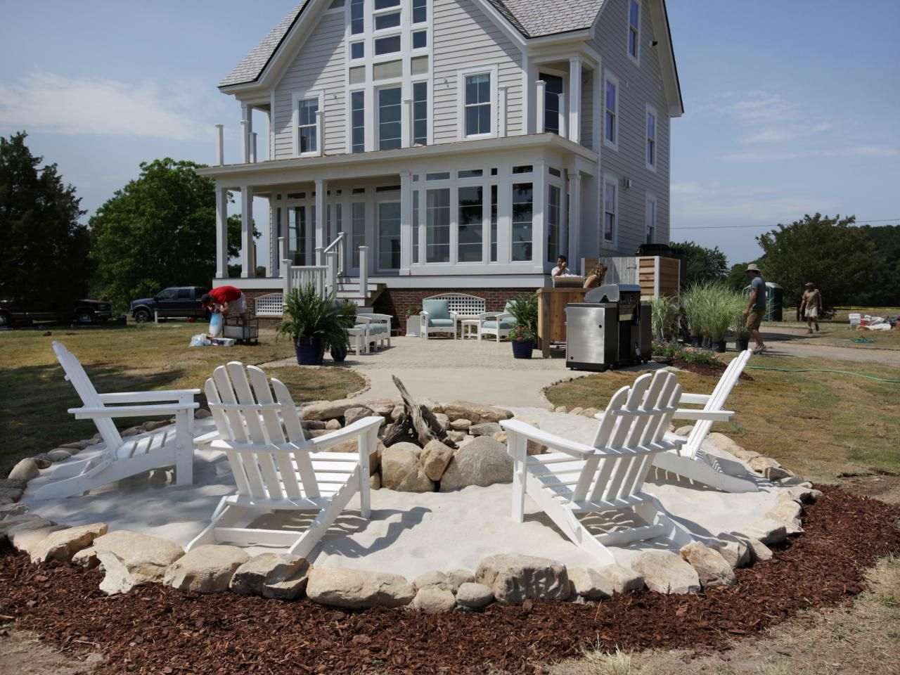How to Create a Fieldstone and Sand Fire Pit Area | yard | Pinterest ...