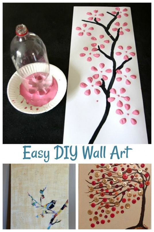 8 Easy DIY wall art ideas featuring cherry blossoms birds trees and more #wallart #decor #homedecorating #cheapwallart #wallart #cheap #wall #art