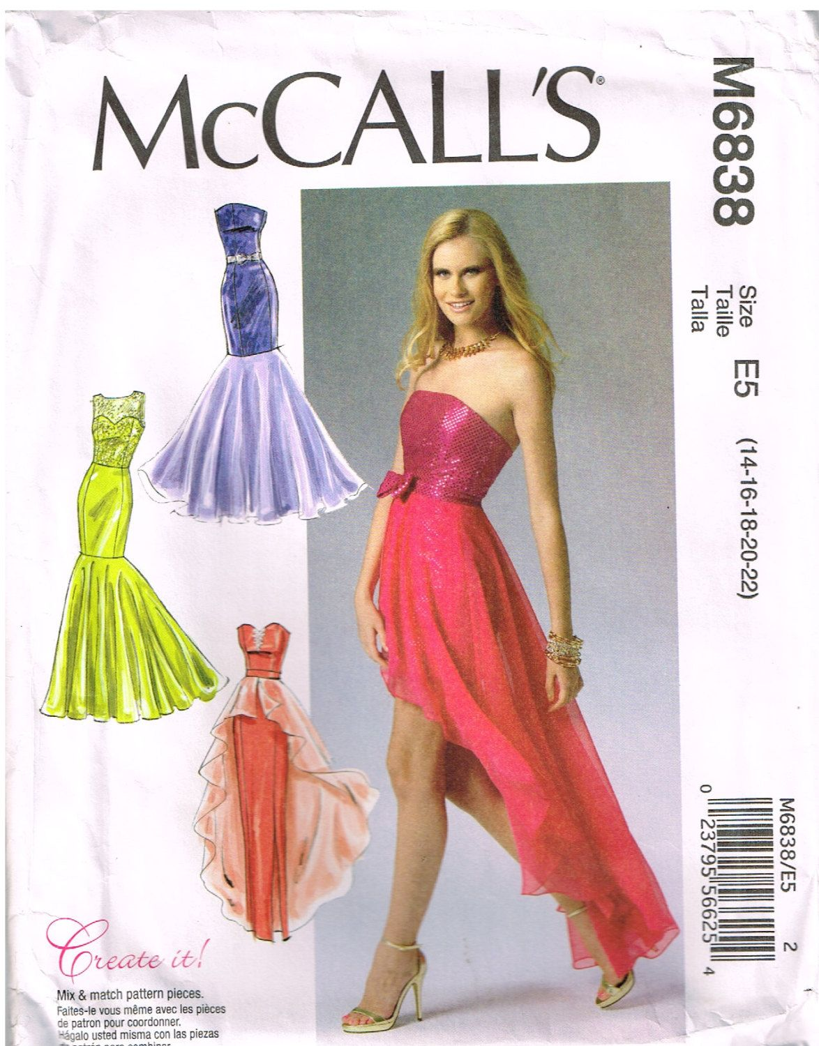 McCall\'s M 6838, Misses\' Dresses, Special Occasion, Prom, Evening ...
