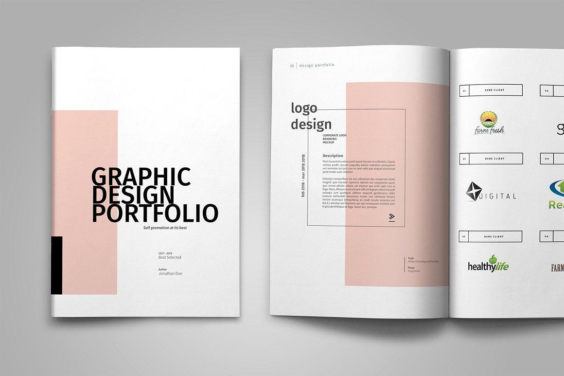 graphic design portfolio template by adekfotografia on