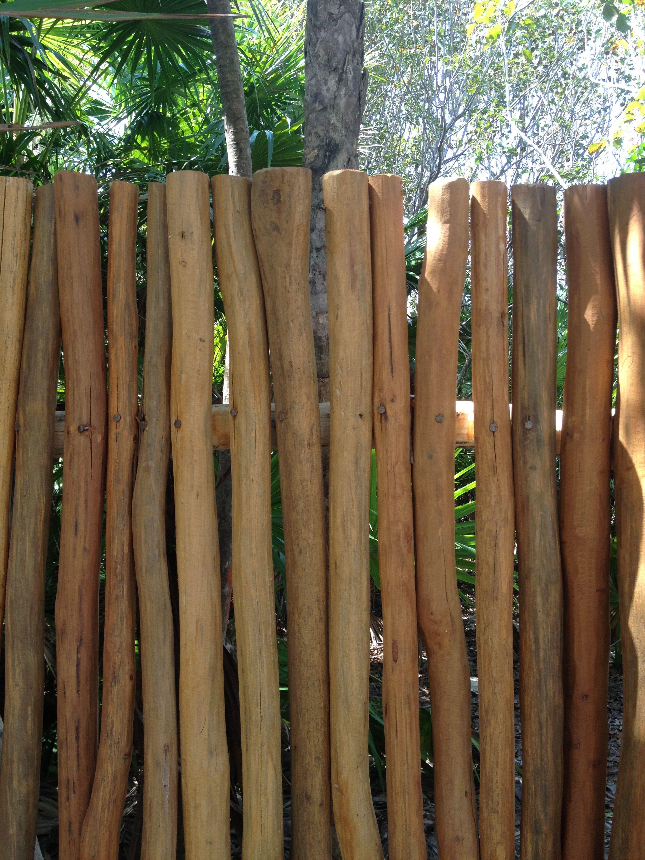 Stick fencing detail. Casa Xixim: Ecoluxe beachfront villa on the ...
