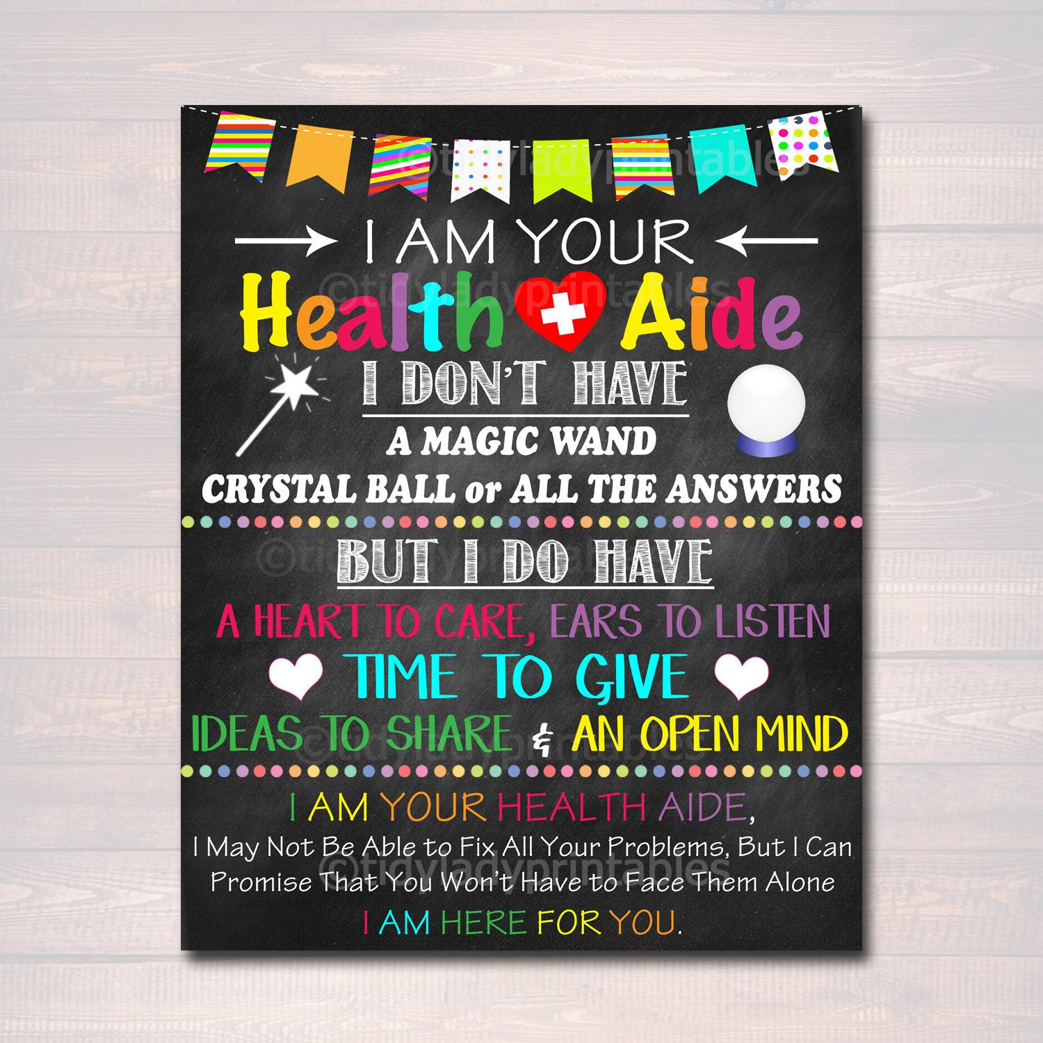 Health Aide Office Decor I Am Your Health Aide Sign