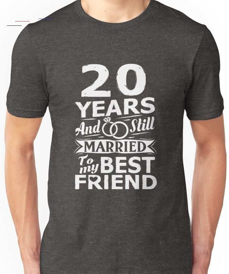 20th wedding anniversary funny married to best friend t
