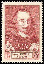 Pierre Corneille 1606-1684 - Le Cid 1636 - Timbre de 1937 ...