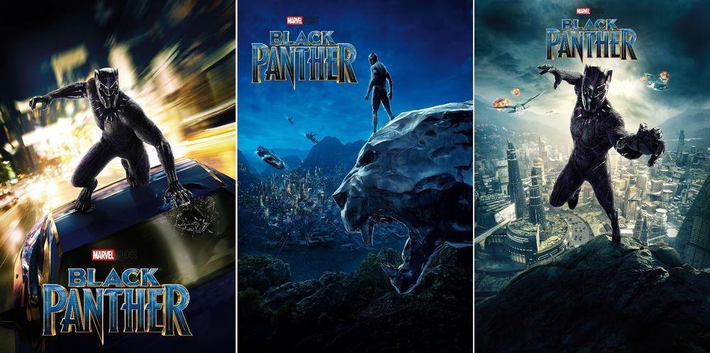 Black panther movie poster 2018 chadwick boseman film size