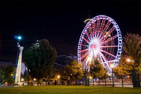 Skyview Atlanta 168 Luckie Street Best Places To Propose Skyview Atlanta Centennial Park