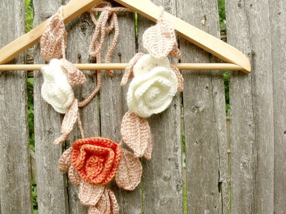 crochet scarf necklace, so gotta do this!