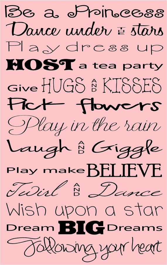 Be A Princess Quote Vinyl Wall Decal Princess Quotes Quotes