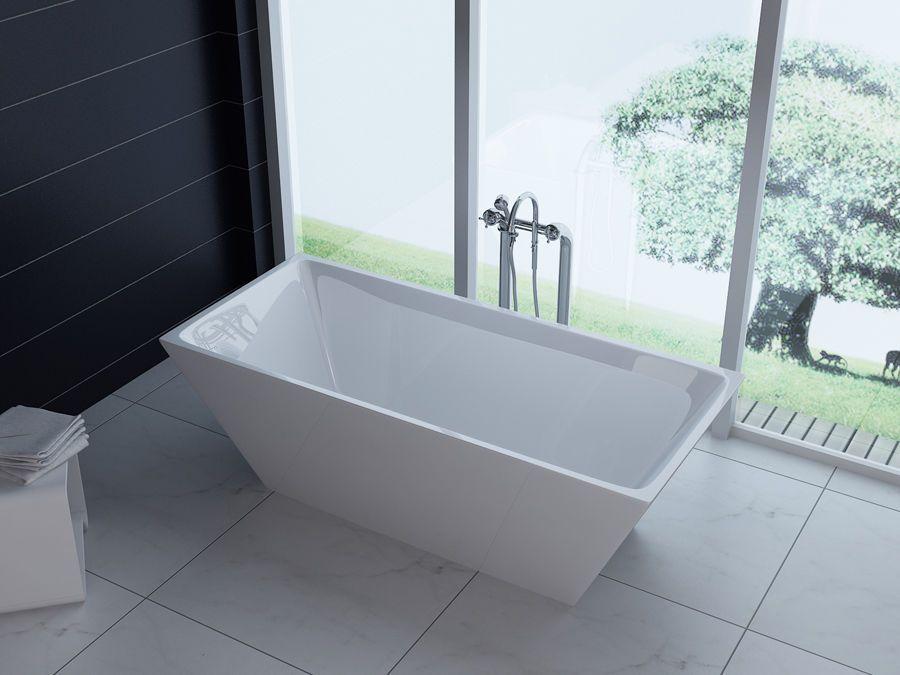 Garda Free Standing Modern Seamless Acrylic Bathtub 60\