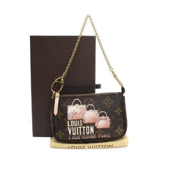 667c6031124a Louis Vuitton Mini Pochette Accessories Monogram Small bags Brown Canvas  M60245