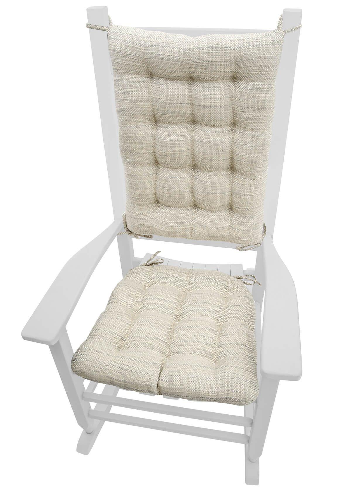 Superieur Brisbane Mist Grey Rocking Chair Cushions   Latex Foam Fill   Reversible
