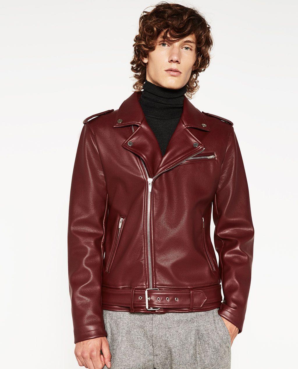 ZARA MAN FAUX LEATHER JACKET Tight leather pants