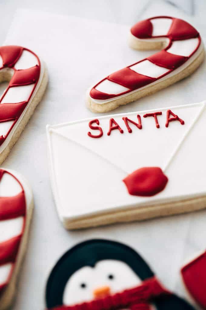 note to santa sugar cookie