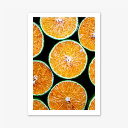 Fruit Print, Kitchen Wall Art, Food Print, Orange Print, Kitchen ...