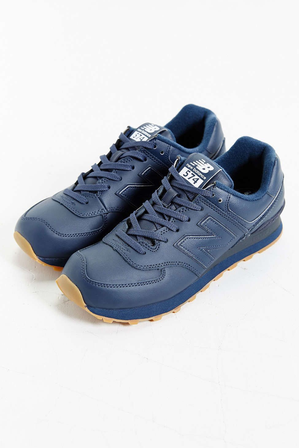 New Balance 574 Leather Gumsole Sneaker