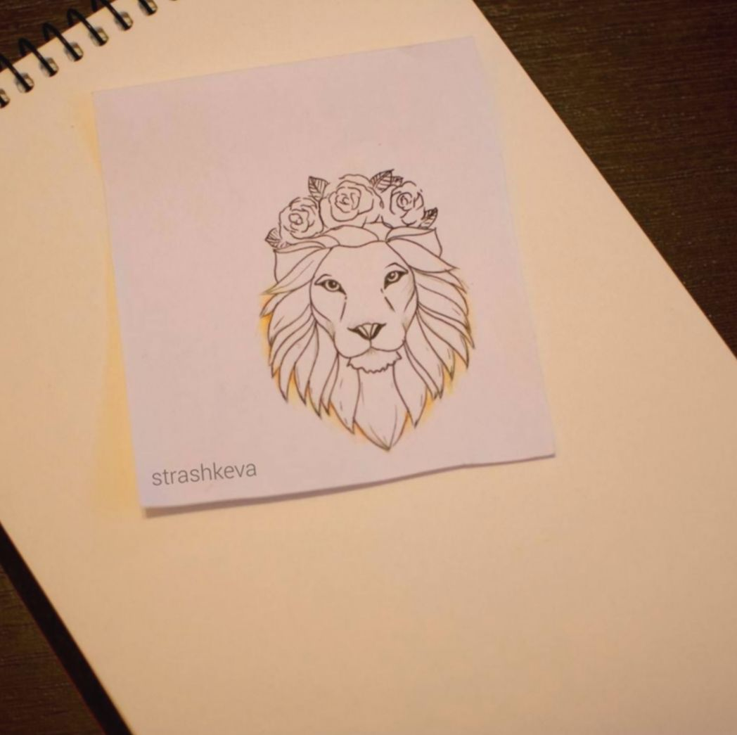 Pin By Sonrie Mas On Tattoos In 2020 Lion Tattoo With Flowers Simple Lion Tattoo