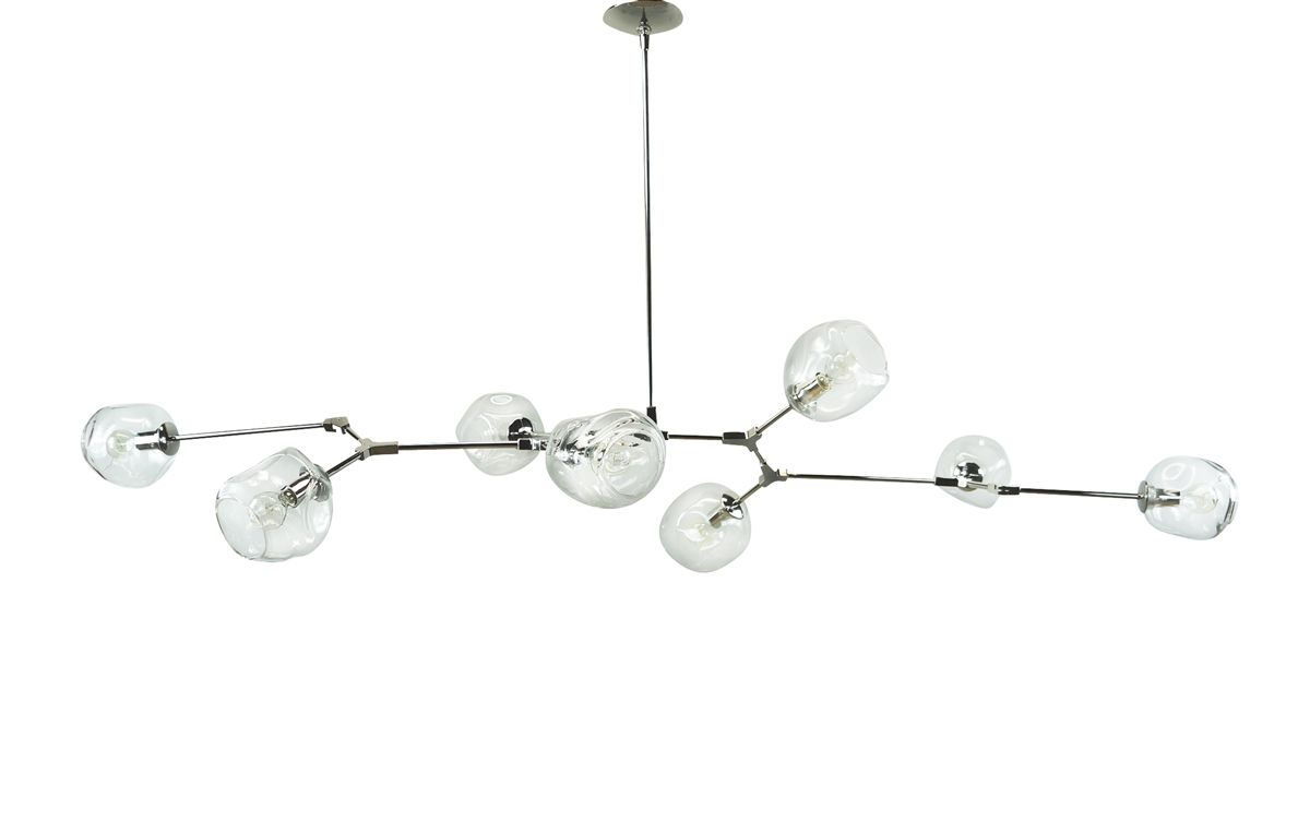 Branching bubble chandelier with polished nickel finish 3103 branching bubble chandelier with polished nickel finish arubaitofo Image collections