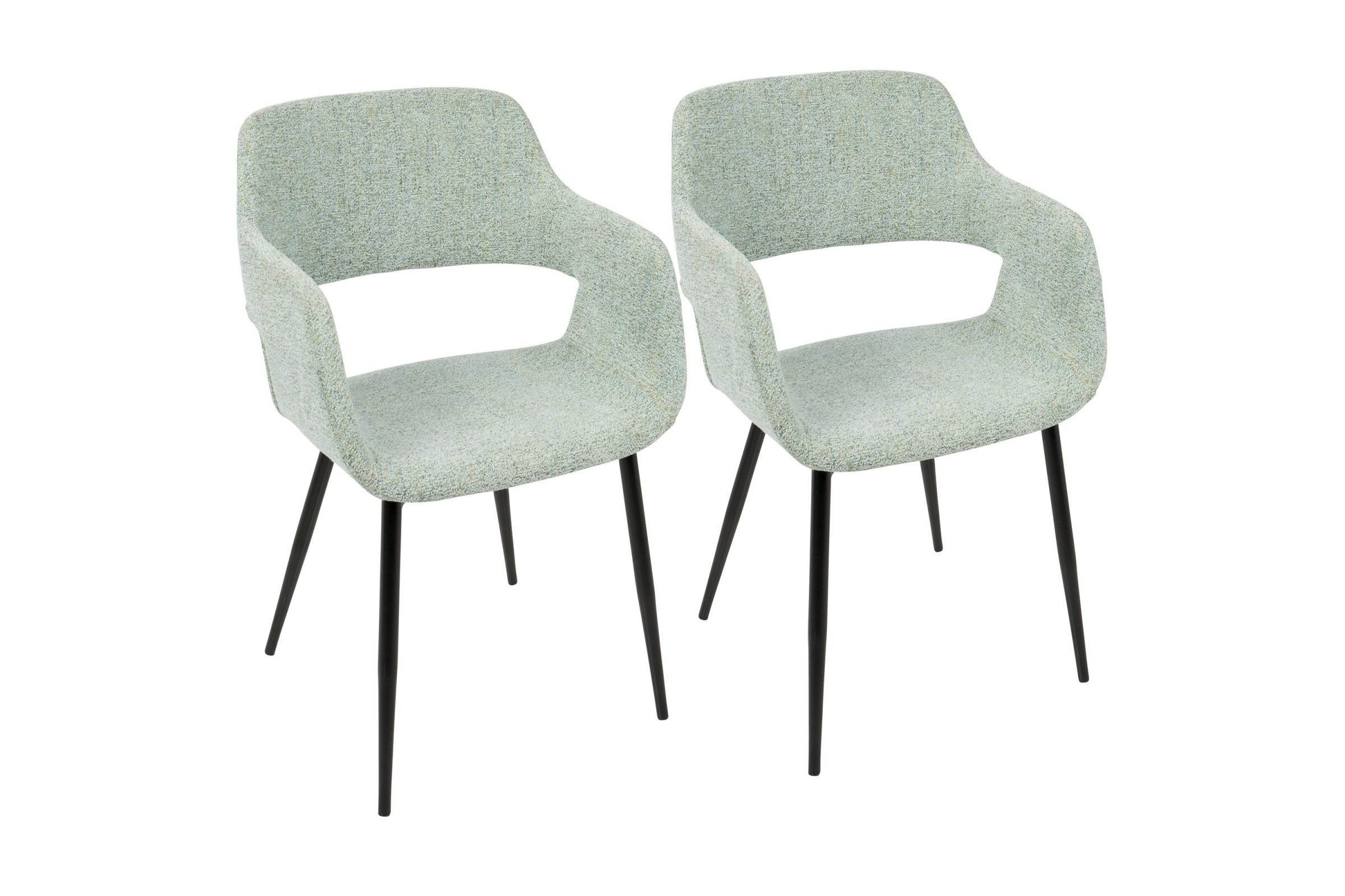 Margarite Mid Century Modern Dining Chairs Set Of 2 In Light