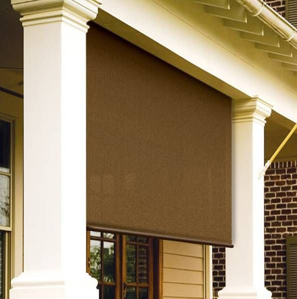 Love these roll up exterior window shades | For the Home | Pinterest