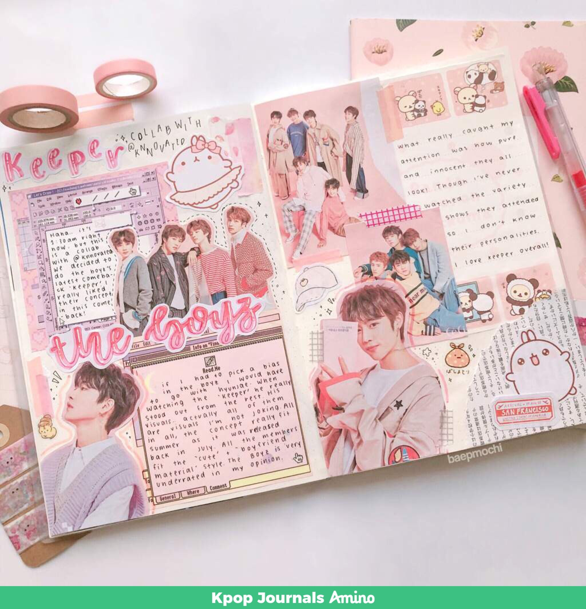Kpop journal The Boyz Keeper Korean bullet journal music