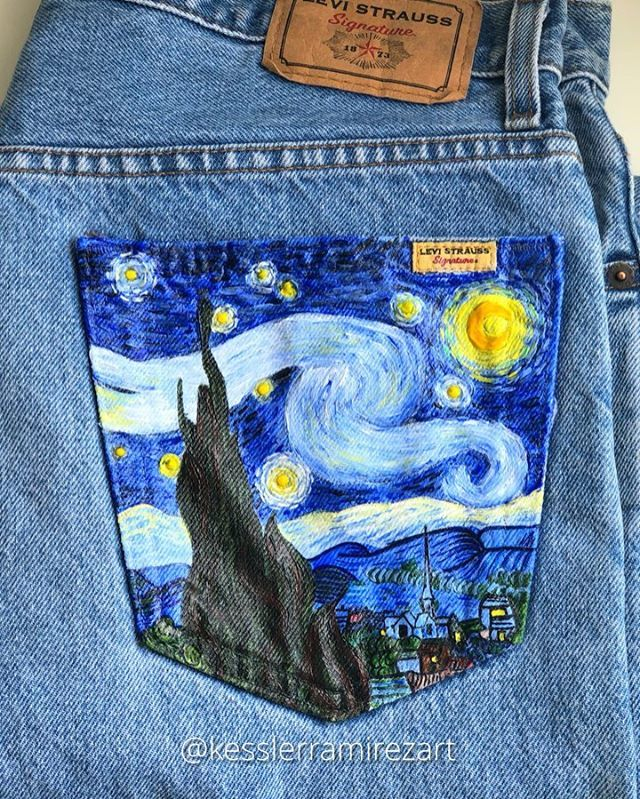 How to Paint On Jeans (5 steps with pictures)