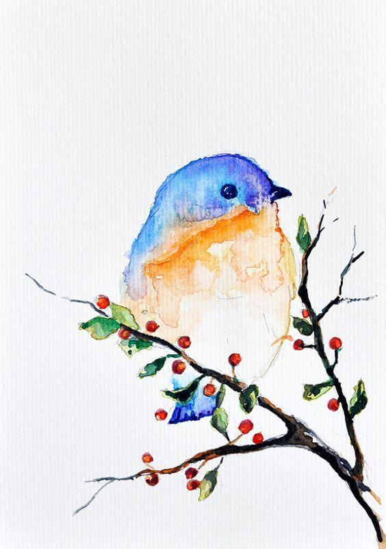 Acuarela Primavera And Pajaros On Pinterest Pintura Acuarela Arte De Acuarela Acuarela